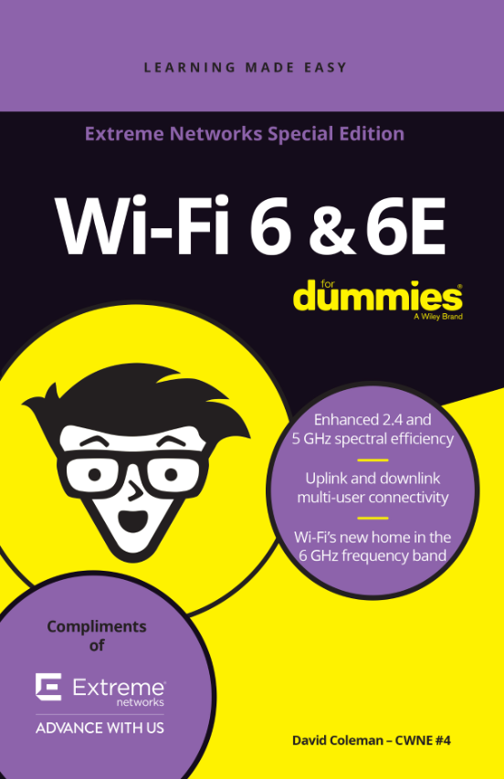 "Giới thiệu cuốn sách ""Wi-Fi 6 & 6E for Dummies – David Coleman, Extreme Networks"""