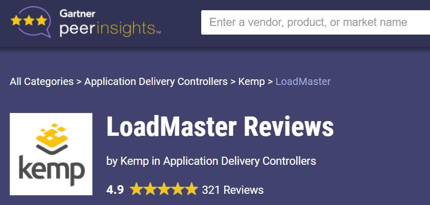 Kemp LoadMaster tiếp tục được người dùng tin tưởng và đánh giá cao theo đánh giá mới nhất