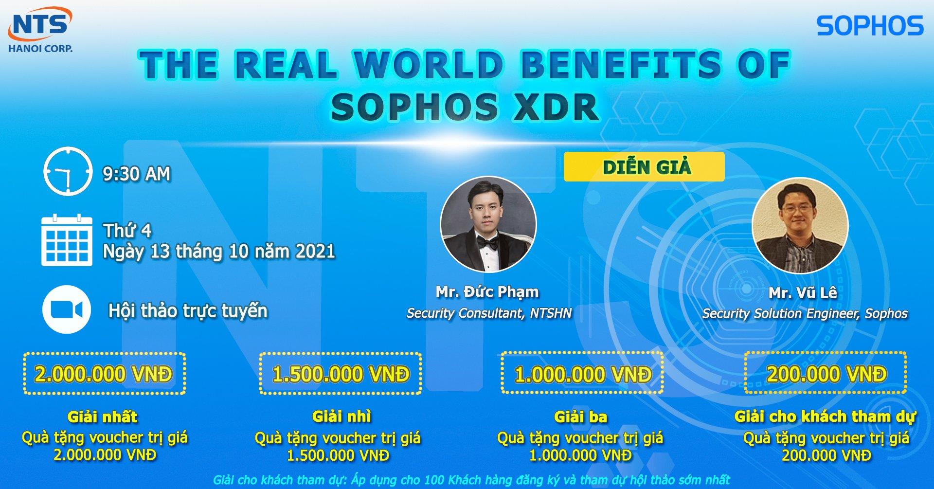 """Thư mời tham dự hội thảo trực tuyến: """"The Real World Benefits of Sophos XDR"""""""